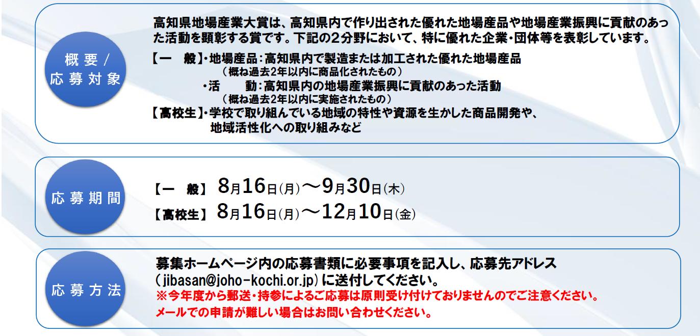 令和3年度第36回 高知県地場産業大賞 募集について