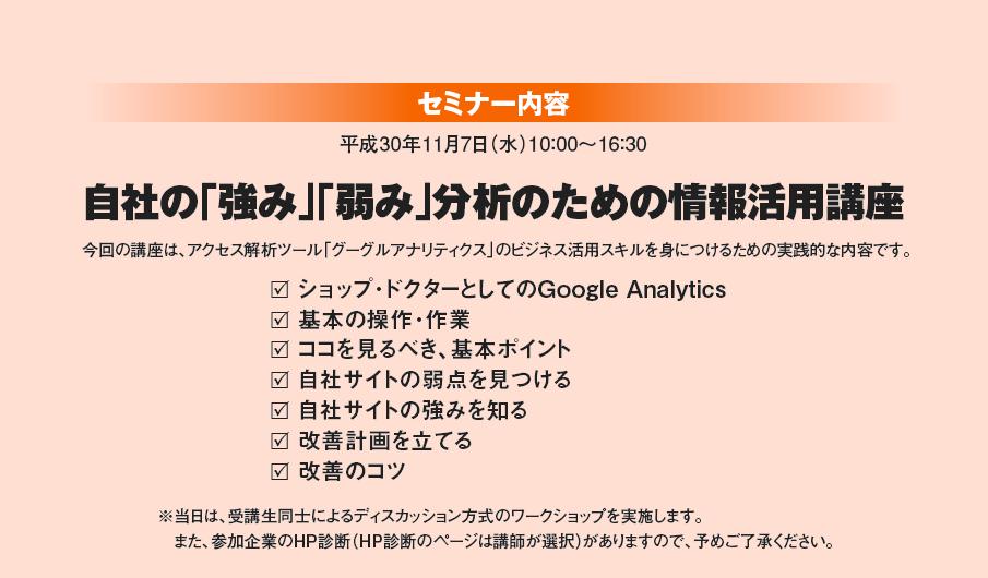 GoogleAnalyticsビジネス活用セミナー